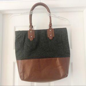 Brown and Grey Merona Tote Bag